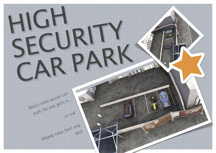 Secure car parking coupons